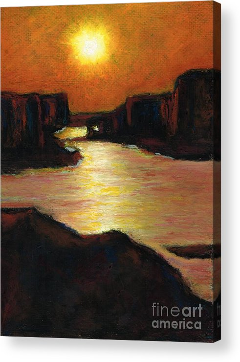 Lake Powell Acrylic Print featuring the painting Lake Powell At Sunset by Frances Marino