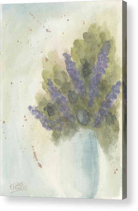 Lilac Acrylic Print featuring the painting Lilacs by Ken Powers