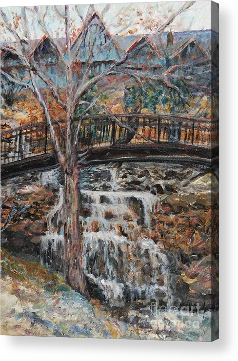 Waterfalls Acrylic Print featuring the painting Memories by Nadine Rippelmeyer