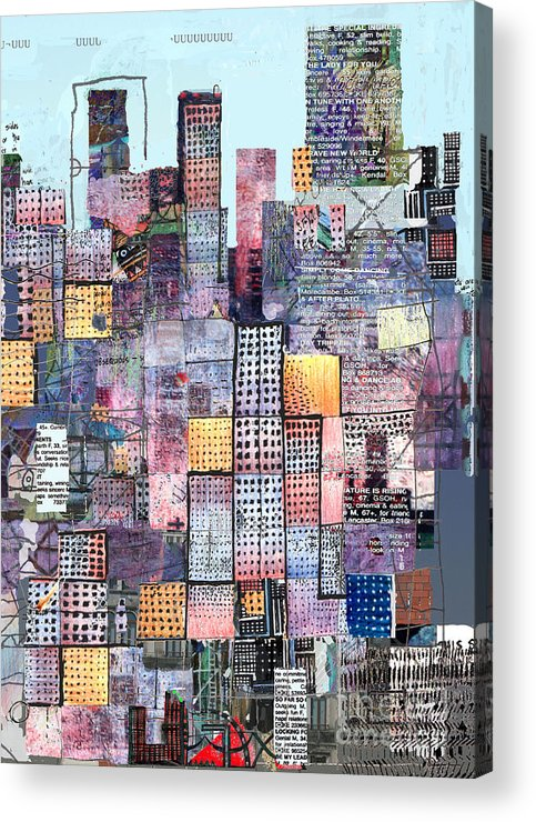 Metro Acrylic Print featuring the digital art Metropolis 3 by Andy Mercer