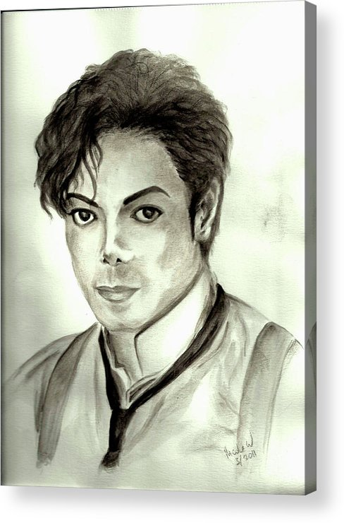 Michael Jackson Acrylic Print featuring the painting Michael by Nicole Wang