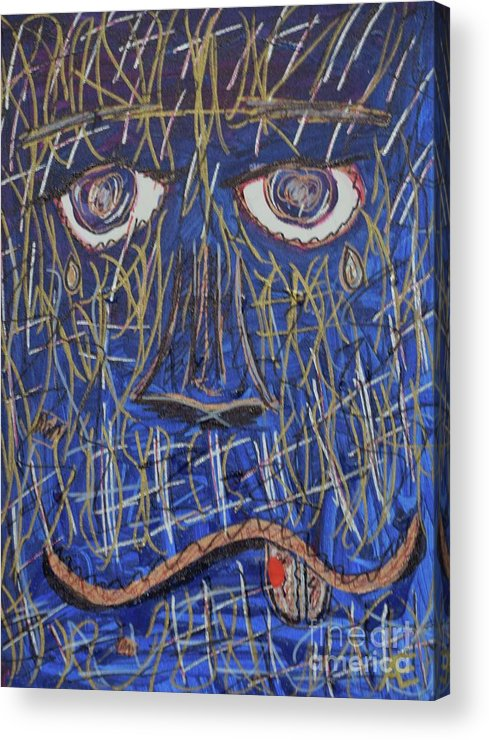 Abstract Painting Of A Monster. Acrylic Print featuring the painting Monster by Aj Watson
