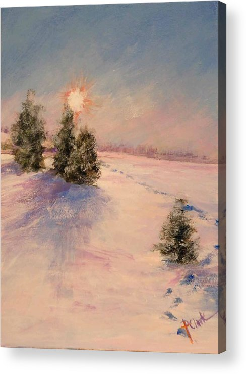 Sunrise Acrylic Print featuring the painting Morning Frost by Donna Pierce-Clark