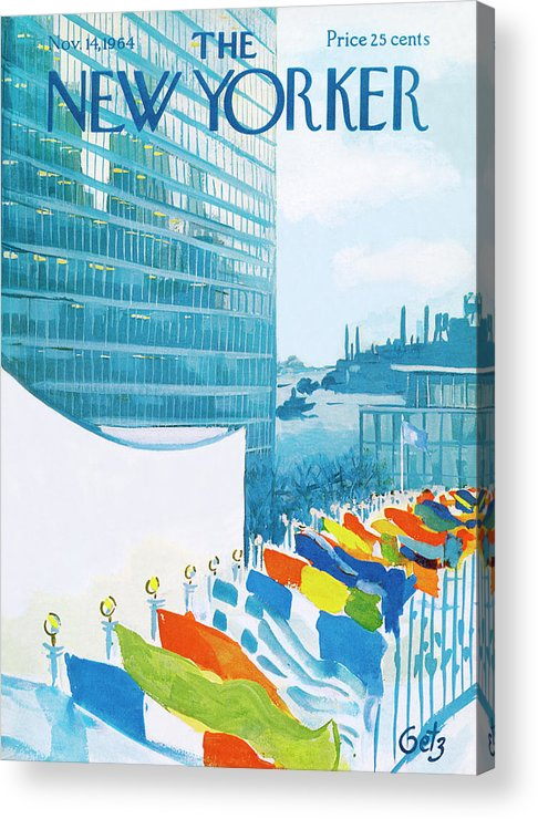 Urban Acrylic Print featuring the painting New Yorker November 14th, 1964 by Arthur Getz