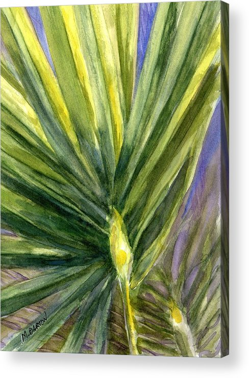 Palm Acrylic Print featuring the painting Palm Frond by Marilyn Barton