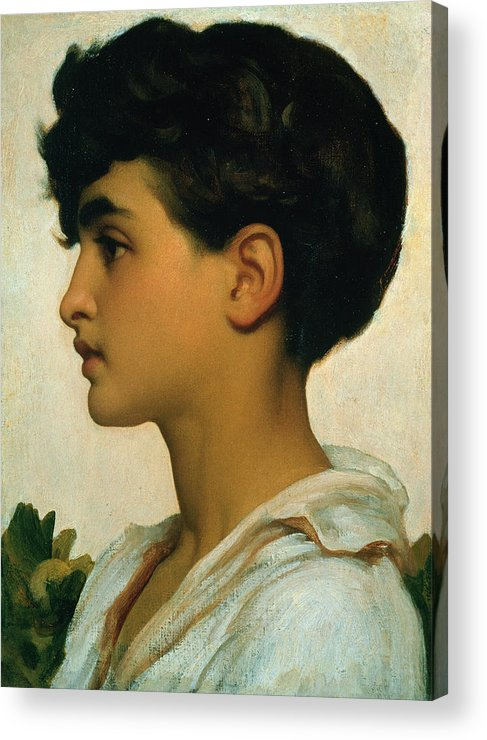 Paolo Acrylic Print featuring the painting Paolo by Frederic Leighton