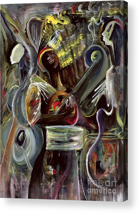 African-american Acrylic Print featuring the painting Pearl Jam by Ikahl Beckford