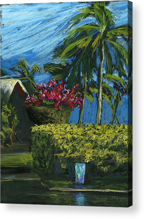 Hawaii Acrylic Print featuring the digital art Poolside Vodka Tonic by Russell Pierce