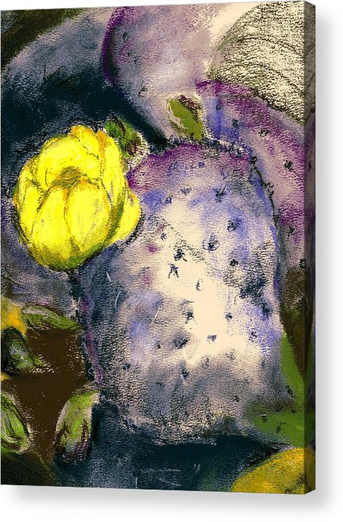 Cactus Acrylic Print featuring the painting Prickly Pear by Marilyn Barton
