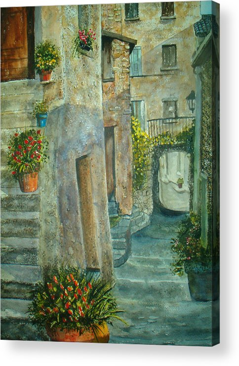 Landscape Acrylic Print featuring the painting Provence Alley by Shirley Braithwaite Hunt