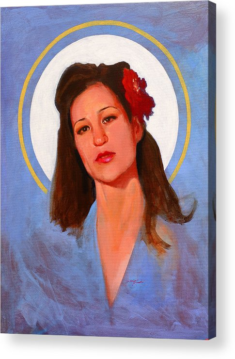 Portrait Acrylic Print featuring the painting Renee 1940 by John Tartaglione