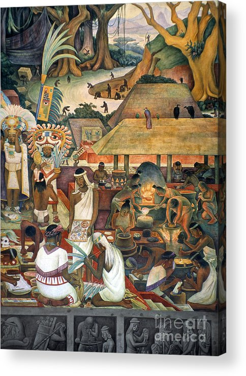1925 Acrylic Print featuring the photograph Rivera: Pre-columbian Life by Granger