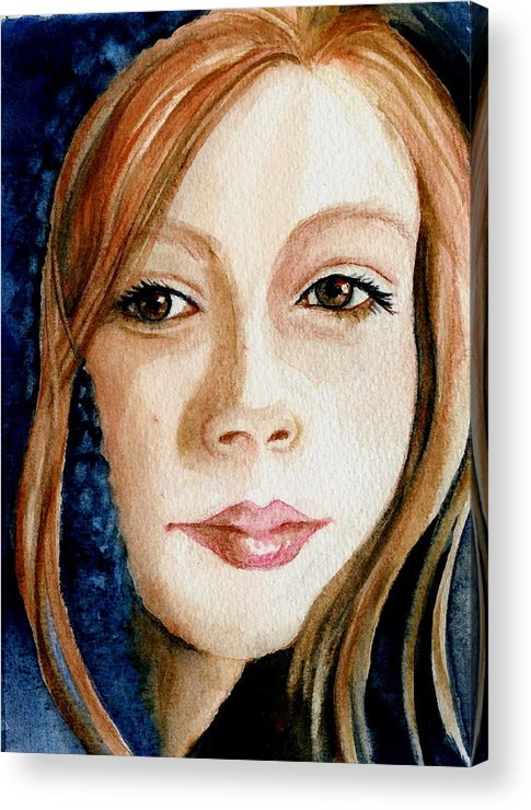 Portrait Commission Acrylic Print featuring the painting Shel by L Lauter