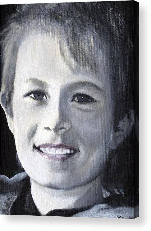 Portrait Acrylic Print featuring the painting Simon by Fiona Jack