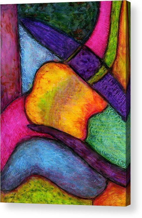 Abstract Acrylic Print featuring the pastel Softened Edges by Cassandra Donnelly