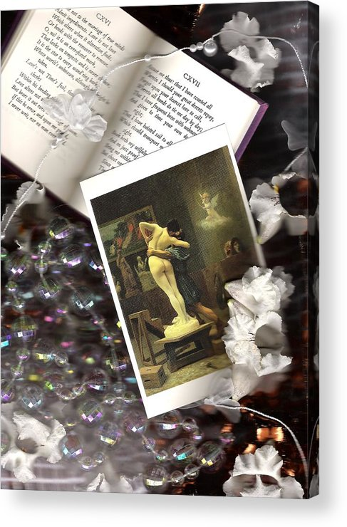 Kiss Acrylic Print featuring the photograph Sonnets And The Kiss by Robin Ziegelbaum