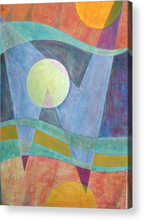 Abstract Quantum Physics Sub-atomic Acrylic Print featuring the painting Superposition II by Jennifer Baird