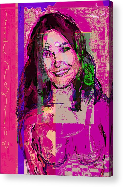Portrait Acrylic Print featuring the painting Sweet Nat by Noredin Morgan