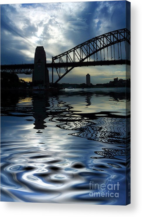 Sydney Harbour Australia Bridge Reflection Acrylic Print featuring the photograph Sydney Harbour Bridge Reflection by Sheila Smart Fine Art Photography