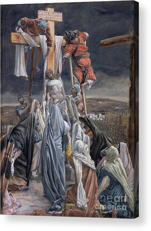 The Acrylic Print featuring the painting The Descent From The Cross by Tissot