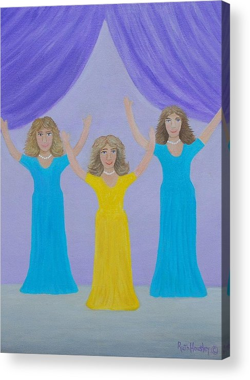 Original Oil Painting Acrylic Print featuring the painting The Giving Of Praise by Ruth Housley