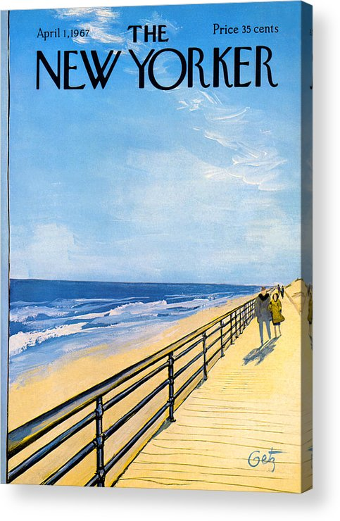 Arthur Acrylic Print featuring the painting The New Yorker Cover - April 1st, 1967 by Arthur Getz