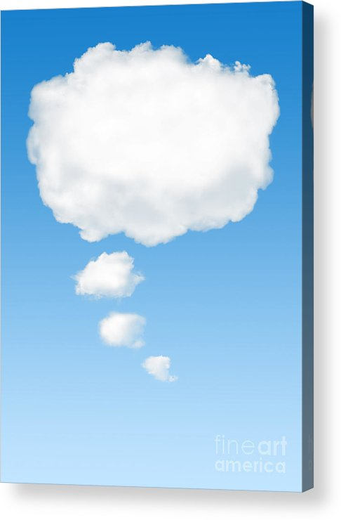 Background Acrylic Print featuring the photograph Thinking Cloud by Carlos Caetano