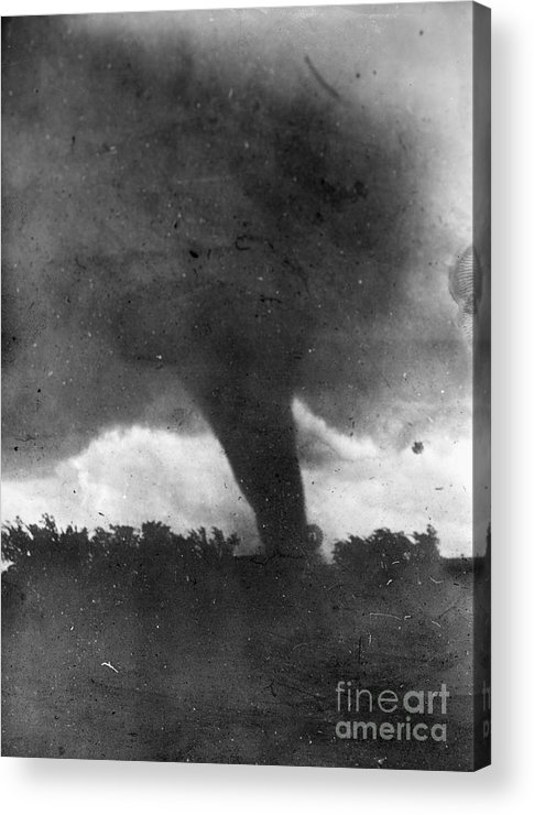1913 Acrylic Print featuring the photograph Tornado, C1913-1917 by Granger