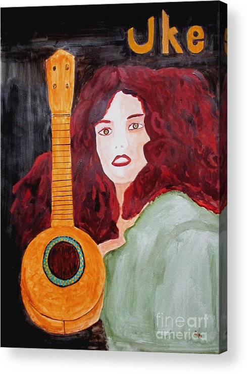 Watercolor Acrylic Print featuring the painting Uke by Sandy McIntire