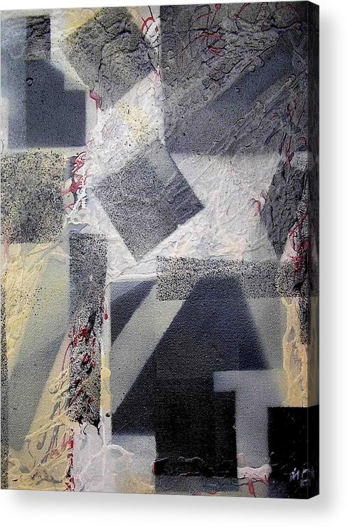 Abstract Acrylic Print featuring the painting undercover N2 by Evguenia Men