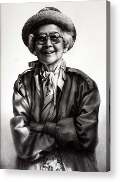 Drawing Acrylic Print featuring the painting Untitle by Chonkhet Phanwichien