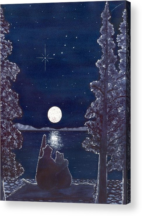 Bear Acrylic Print featuring the painting Ursa Minor by Catherine G McElroy