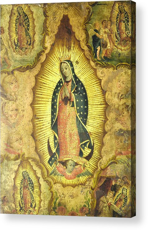 Religion Acrylic Print featuring the painting Virgen De Guadalupe by Unknown