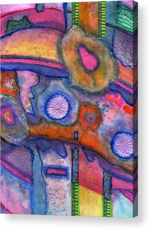 Creative Passages Acrylic Print featuring the painting Whimsy by Cassandra Donnelly
