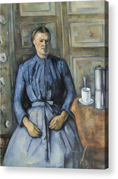 Paul Cezanne Acrylic Print featuring the painting Woman With A Coffeepot by Paul Cezanne