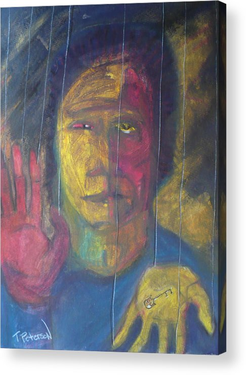 Portrait Acrylic Print featuring the painting Wont Get Fooled Again by Todd Peterson