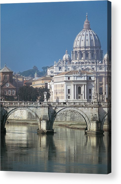 Outdoors Acrylic Print featuring the photograph St Peters Basilica, Rome, Italy by Martin Child