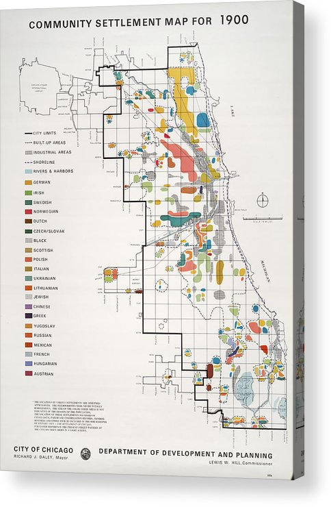 picture regarding Printable Maps of Chicago identify Local Arrangement Map, Chicago Acrylic Print