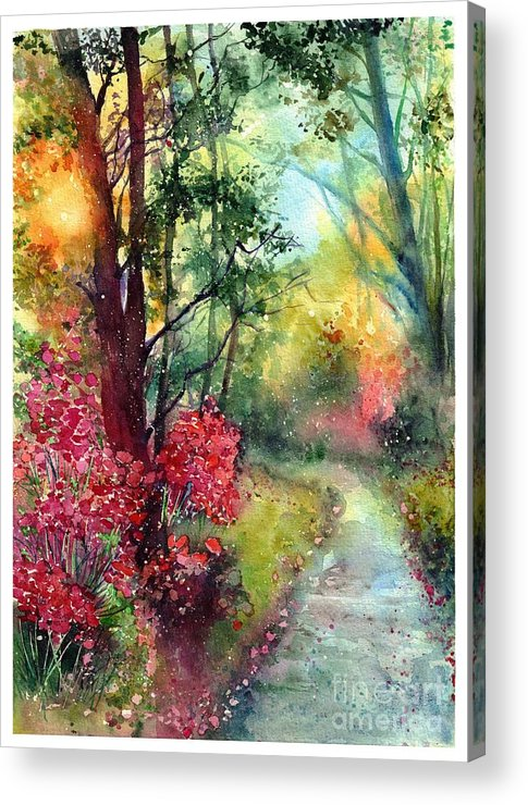 Nature Acrylic Print featuring the painting Where Do We Go by Suzann Sines
