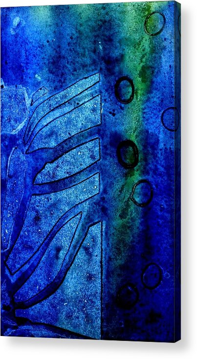 Abstract Acrylic Print featuring the mixed media Blue IIi by John Nolan