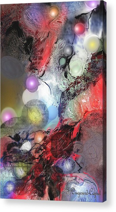 Abstract Acrylic Print featuring the painting Sci-fi by Francoise Dugourd-Caput