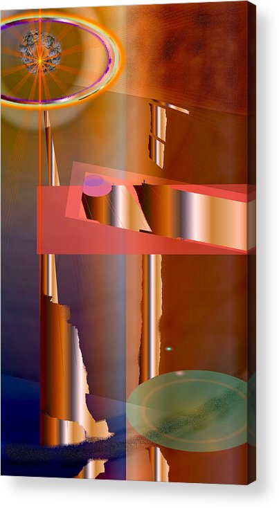 Abstract Acrylic Print featuring the digital art Decisions by Elsbeth Lane