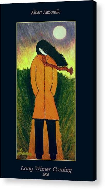 Figurative Acrylic Print featuring the painting Long Winter Coming by Albert Almondia