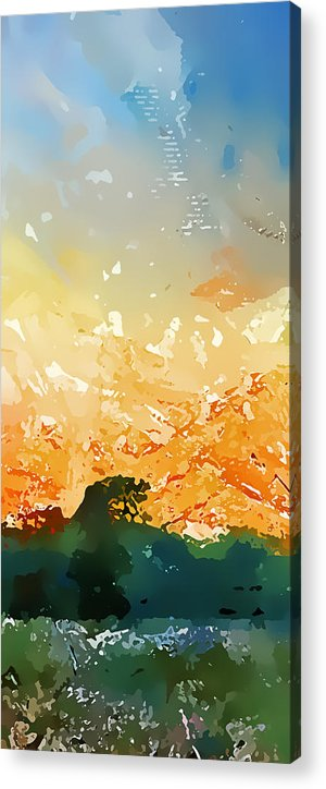 Abstract Acrylic Print featuring the photograph Abstractograpia IIi by Gareth Davies