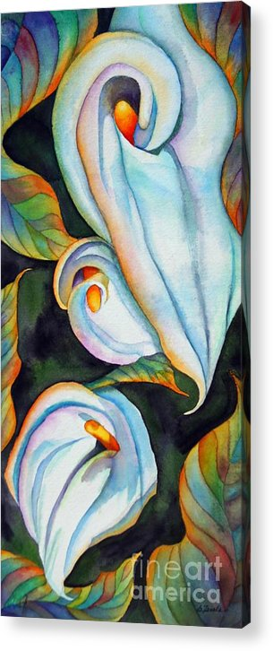 Floral Acrylic Print featuring the painting Soft Swirl by Gail Zavala