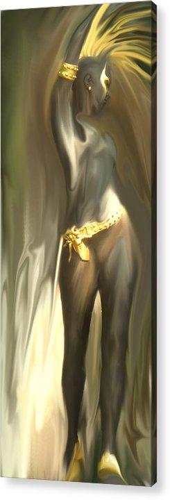 Abstract Acrylic Print featuring the digital art Phoenix Rising by Ian MacDonald