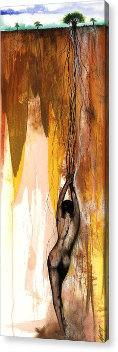 The Acrylic Print featuring the mixed media Second Lady by Anthony Burks Sr