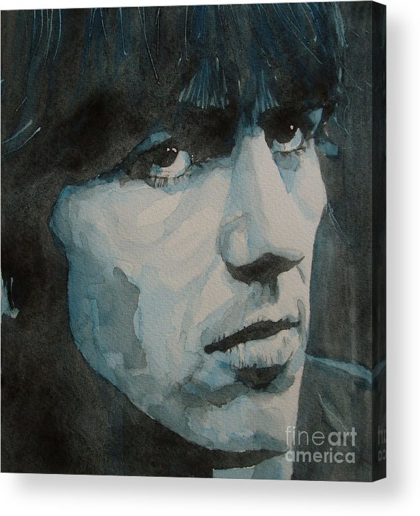The Beatles Acrylic Print featuring the painting The Quiet One by Paul Lovering