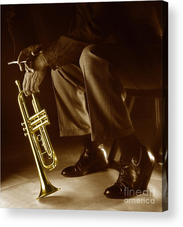 Trumpet Acrylic Print featuring the photograph Trumpet 2 by Tony Cordoza