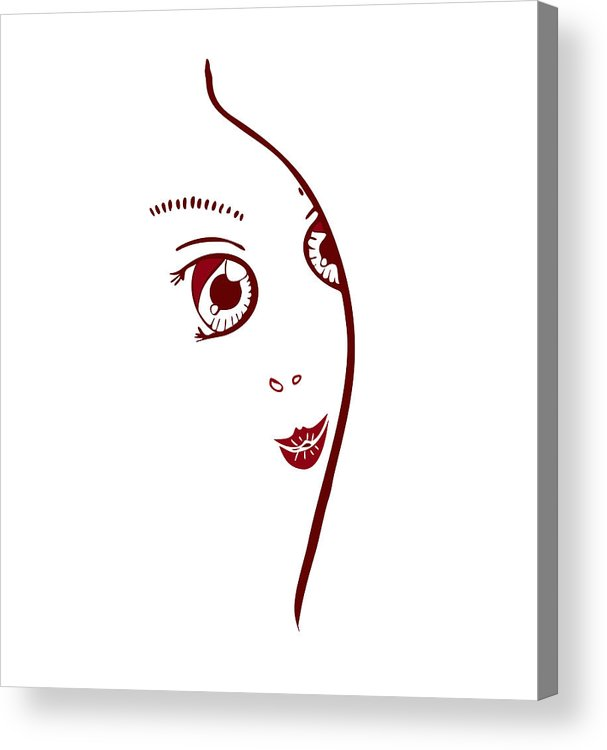 Fashion Acrylic Print featuring the painting Illustration Of A Fashion Model by Frank Tschakert